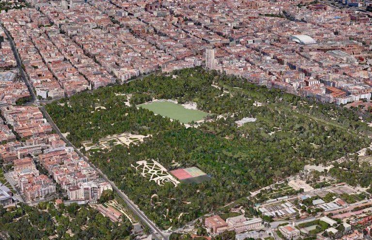 Views from El Retiro Park in Madrid